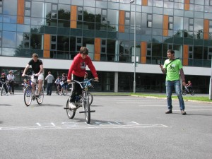 Enjoying the slow bike race at the Galway Cycling Treasure Hunt 2010