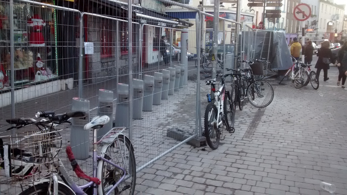 Mainguard Street bike parking removed to make way for Docking Station