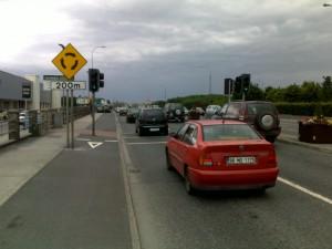 Pedestrian lights at Dunnes