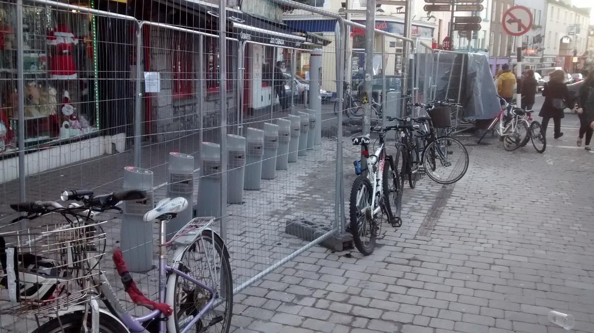 Mainguard Street bike parking removed to make way for Docking Station