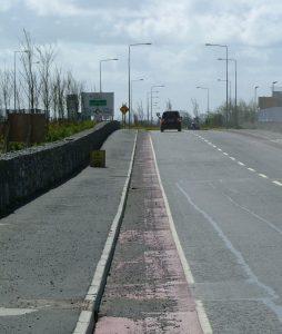 Cycle lane at Parkmore Galway